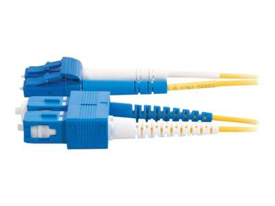 C2G 7m LC-SC 9/125 OS1 Duplex Singlemode PVC Fibre Optic Cable (LSZH) - Yellow