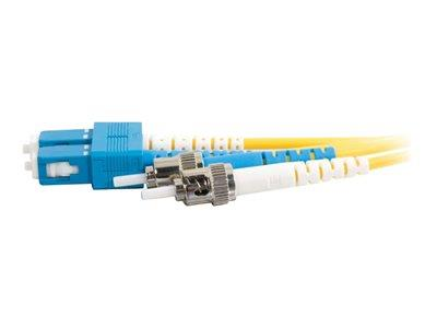 C2G 10m SC-ST 9/125 OS1 Duplex Singlemode PVC Fibre Optic Cable (LSZH) - Yellow