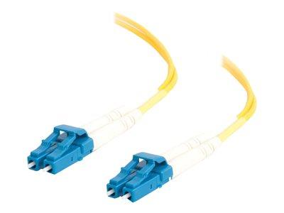 C2G 1m LC-LC 9/125 OS1 Duplex Singlemode PVC Fibre Optic Cable (LSZH) - Yellow