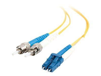 C2G 115m LC-ST 9/125 OS1 Duplex Singlemode PVC Fibre Optic Cable (LSZH) - Yellow
