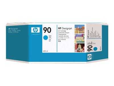 HP 90 3-pack 400-ml Cyan Ink Cartridges