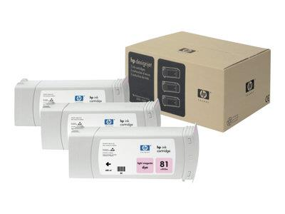 HP 81 3-pack 680-ml Light Magenta Dye Cartridges
