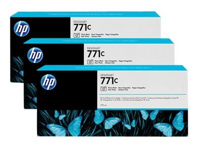 HP 771C 3-pack 775-ml Photo Black Designjet Ink Cartridges