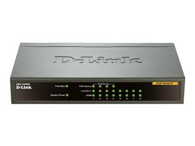 D-Link 8-Port Fast Ethernet PoE Unmanaged Desktop Switch