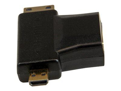StarTech.com HDMI 2-in-1 T-Adapter - HDMI to HDMI Mini or HDMI Micro Combo Adapter – F/M