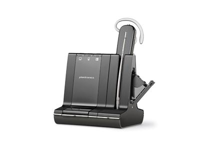 Plantronics Savi 745-M Triple Connectivity Wireless Headset - MS Lync - with Unlimited Talktime