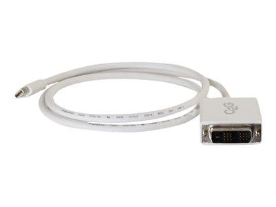 C2G 1m Mini DisplayPort Male to Single Link DVI-D Male Adapter Cable - White