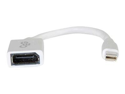 C2G 15cm Mini DisplayPort Male to DisplayPort Female Adapter Cable - White