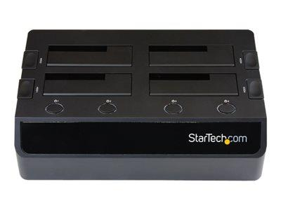 StarTech.com USB 3.0 to 4-Bay SATA 6Gbps Hard Drive Docking Station w/ UASP & Dual Fans