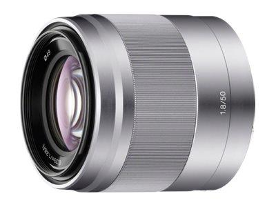 Sony SEL50F18 E 50mm f/1.8 OSS Lens E Mount for NEX series - Silver