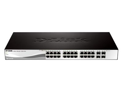D-Link DGS-1210-24 24-port Gigabit Smart Switch with 4 SFP P