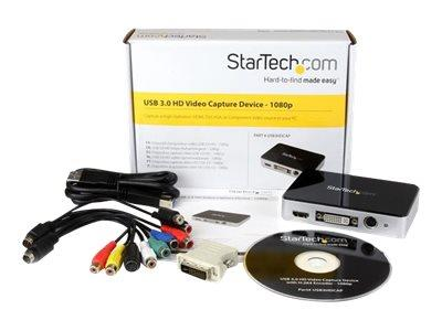 StarTech.com USB 3.0 Video Capture Device - HDMI / DVI / VGA / Component HD Video Recorder