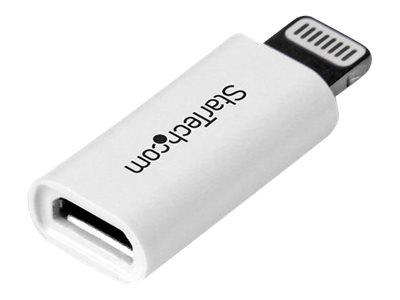 StarTech.com White Apple 8-pin Lightning Connector to Micro USB Adapter for iPhone / iPod / iPad