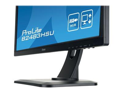 "iiyama ProLite B2483HSU-B1DP 24"" 1920x1080 2ms VGA DVI-D DisplayPort LED Monitor"