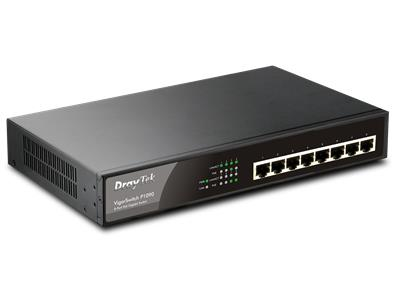 DrayTek VSP1090 VigorSwitch P-1090 Professional 8-Port PoE+ Switch