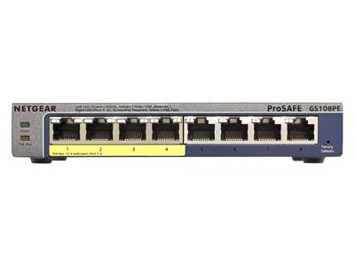 NetGear GS108P Prosafe Plus 8 Port Gigabit Ethernet Switch