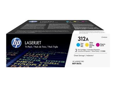 HP 312A 3-pack Cyan/Magenta/Yellow Original LaserJet Toner Cartridges