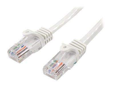 StarTech.com Cat5e Patch Cable with Snagless RJ45 Connectors 1m - White