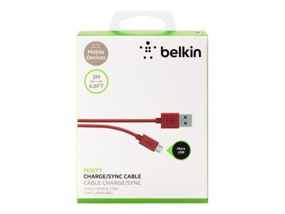 Belkin MixIt Colour Range Micro USB Cable 2m - Red