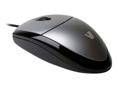 V7 Optical Mouse - Black/Silver
