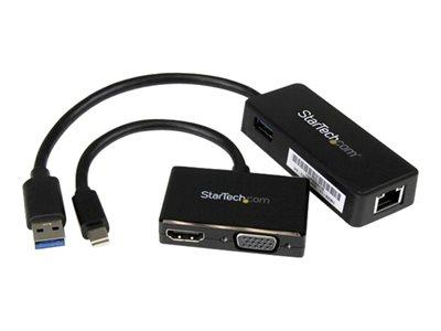 StarTech.com Kit for Surface Pro 4 / 3 - mDP to VGA or HDMI - USB GbE