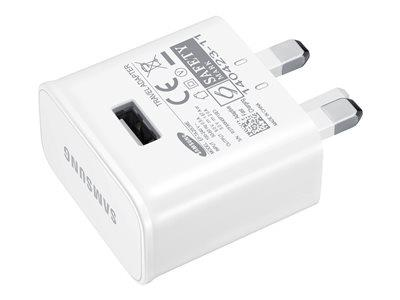 Samsung Galaxy UK Mains Charger with USB Cable - 2 Amp - White