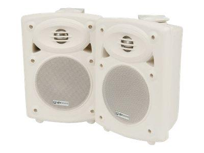 QTX Amplified Stereo Speaker Speaker 2 x 20w White