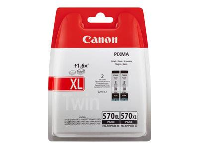 Canon Twin pack pigment black Ink Cartridge