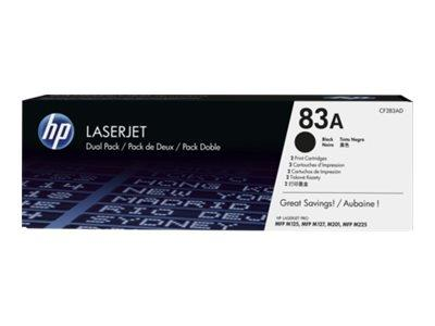 HP 83A 2-Pack Black Toner Cartridge