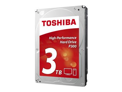 "Toshiba P300 3TB 3.5"" SATA 6Gb/s 7200rpm 64MB High Performance Drive"