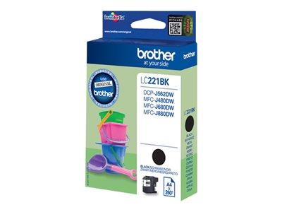 Brother LC221BK Black Original Ink Cartridge