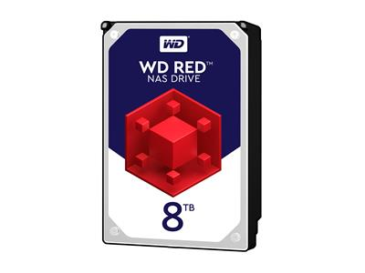 "WD 8TB Red NAS Desktop Hard Drive 3.5"" SATA 6Gb/s 128MB 5400rpm"