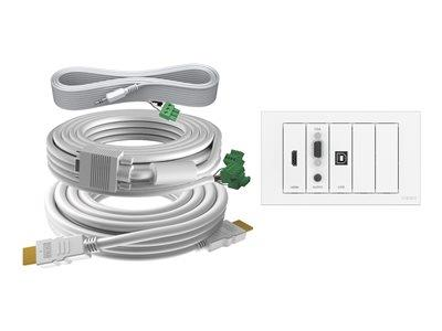 Vision Techconnect Faceplate Kit - Module Pack with 10M Cable Pack