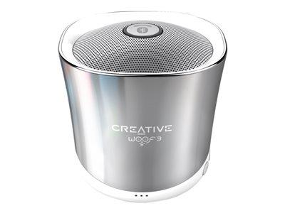 Creative Woof 3 Creative Woof 3 Micro-sized Bluetooth Speaker with MP3/FLAC player - Winter Chrome