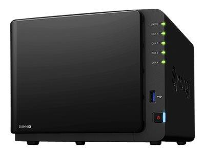 Synology DS916+ (2GB RAM) 16TB (4 x 4TB WD RED) 4 Bay Desktop NAS