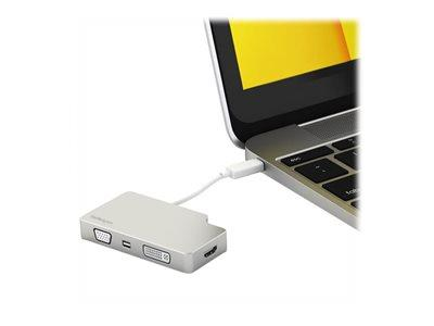 StarTech.com Travel A/V Adapter USB-C to VGA DVI HDMI Mini DisplayPort - 4K - external video adapter