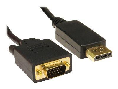 Cables Direct 3m DisplayPort to HD15 VGA M-M Cable Black B/Q 50