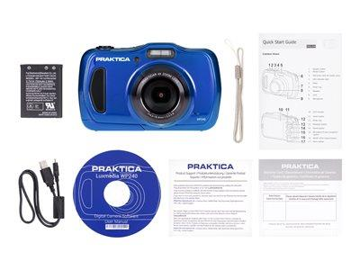 Praktica Luxmedia WP240 Blue 20MP 4xZoom Waterproof Camera
