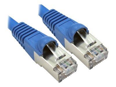 Cables Direct - Patch cable - RJ-45 (M) to RJ-45 (M) - 25 cm - SFTP - CAT 6a  - Blue