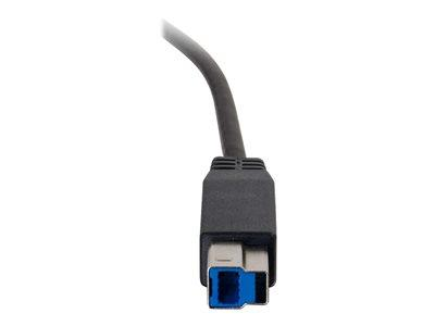 C2G 2m USB 3.0 (USB 3.1 Gen 1) USB-C to USB-B Cable M/M - Black
