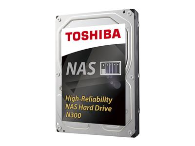 Toshiba 8TB N300 High-Reliability NAS Hard Drive - SATA 6Gb/s 7200RPM 128MB Cache
