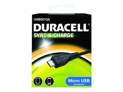 Duracell Micro-USB Type B Sync/Charge Cable 1m - Black