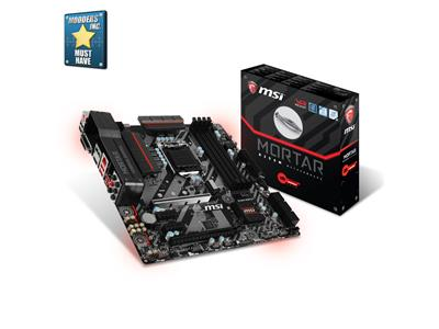 MSI B350M MORTAR AM4 DDR4 PCIe M.2 SATA6Gb/s USB3.1Gen1