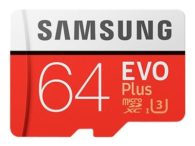 Samsung 64GB EVO Plus Class 10 microSDXC card with SD adapter
