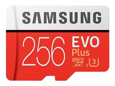 Samsung 256GB EVO Plus Class 10 microSDXC card with SD adapter