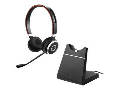 Jabra Evolve 65 Stereo UC Wireless Headset and Charging Stand