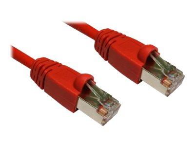 Cables Direct .5MTR CAT 6 FTP-LSOH Snagless Red - B/Q 250