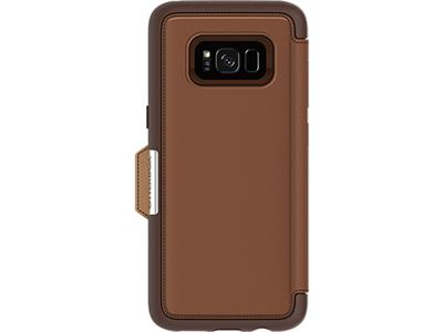 OtterBox Strada Series for Samsung Galaxy S8 Plus - Burnt Saddle Brown