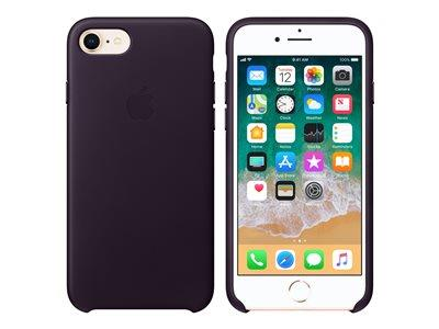 Apple iPhone 8 / 7 Leather Case - Dark Aubergine