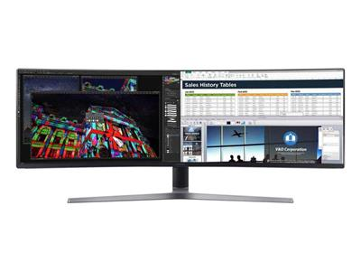 "Samsung CHG90 49"" 3840x1080 1ms (mprt) HDMI Display Port C-VA Monitor"